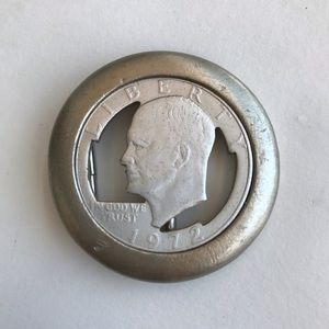 Accessories - 1972 cut out silver dollar belt buckle